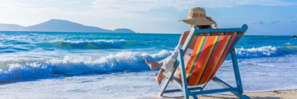 shutterstock_385098574-Girl on a tropical beach with a straw hat